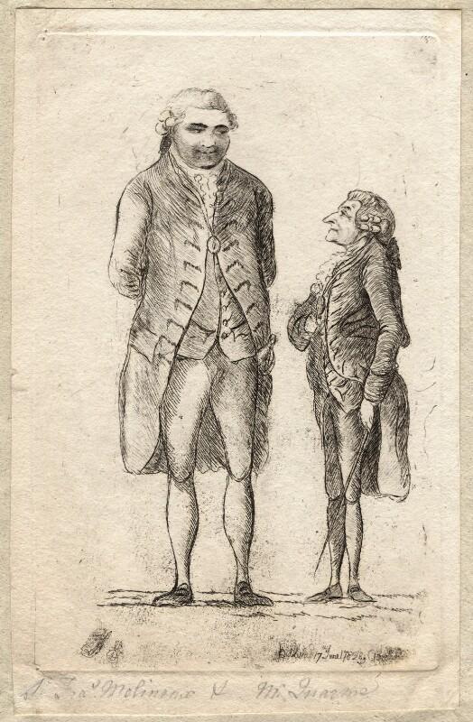 Sir Francis Molineux; Robert Quarme, by James Sayers, published 17 June 1782 - NPG D9566 - © National Portrait Gallery, London