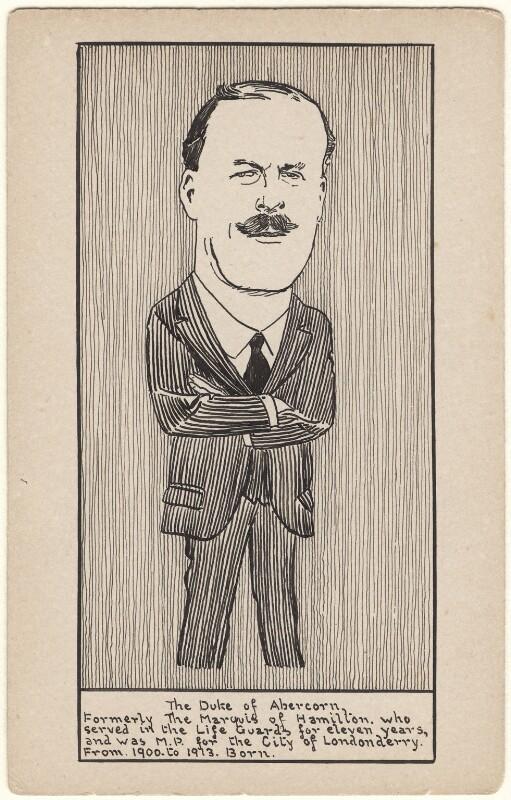 James Albert Edward Hamilton, 3rd Duke of Abercorn, by Unknown artist, early 20th century - NPG D9578 - © National Portrait Gallery, London