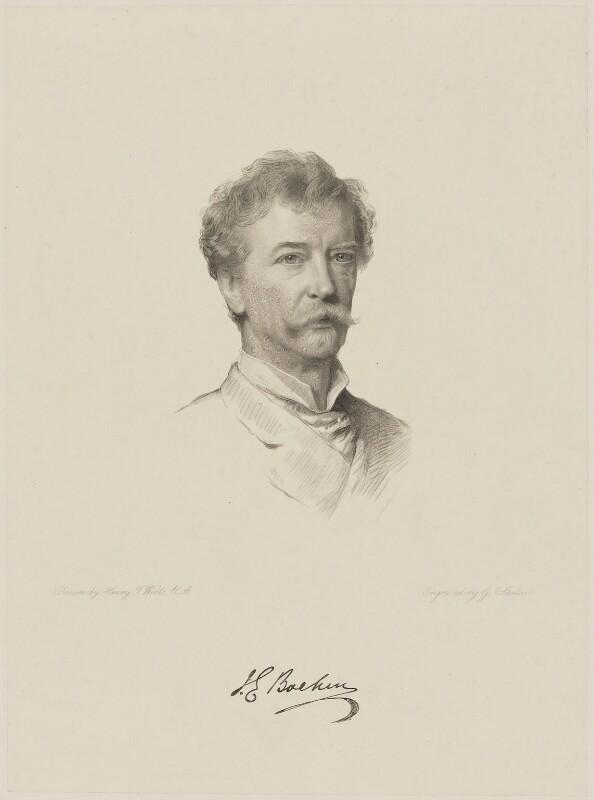 Sir Joseph Edgar Boehm, 1st Bt, by George J. Stodart, after  Henry Tanworth Wells, 1888 - NPG D9639 - © National Portrait Gallery, London