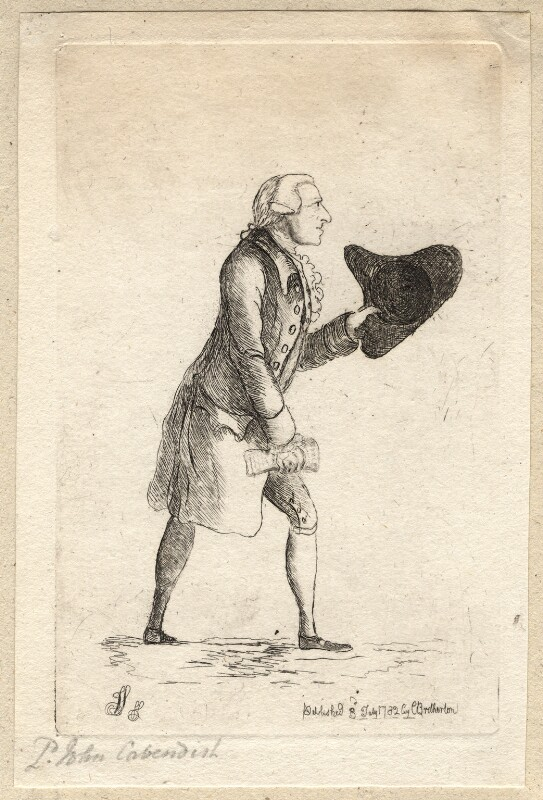 Lord John Cavendish, by James Sayers, published by  Charles Bretherton, published 3 July 1782 - NPG D9675 - © National Portrait Gallery, London