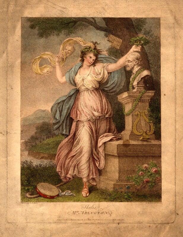 Frances Abington (née Barton), by Francesco Bartolozzi, after  Richard Cosway, published 1783 - NPG D968 - © National Portrait Gallery, London