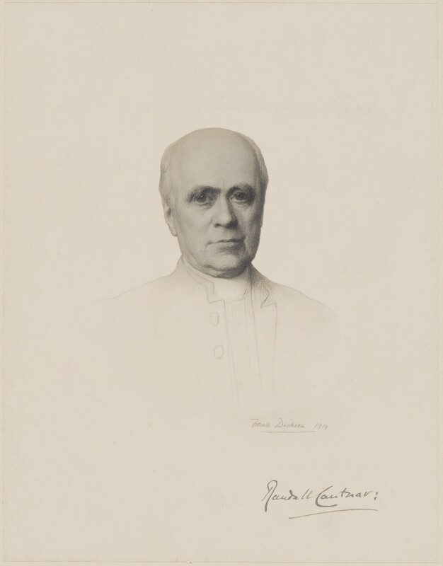 Randall Thomas Davidson, Baron Davidson of Lambeth, after Sir Francis Bernard ('Frank') Dicksee, (1919) - NPG D9711 - © National Portrait Gallery, London