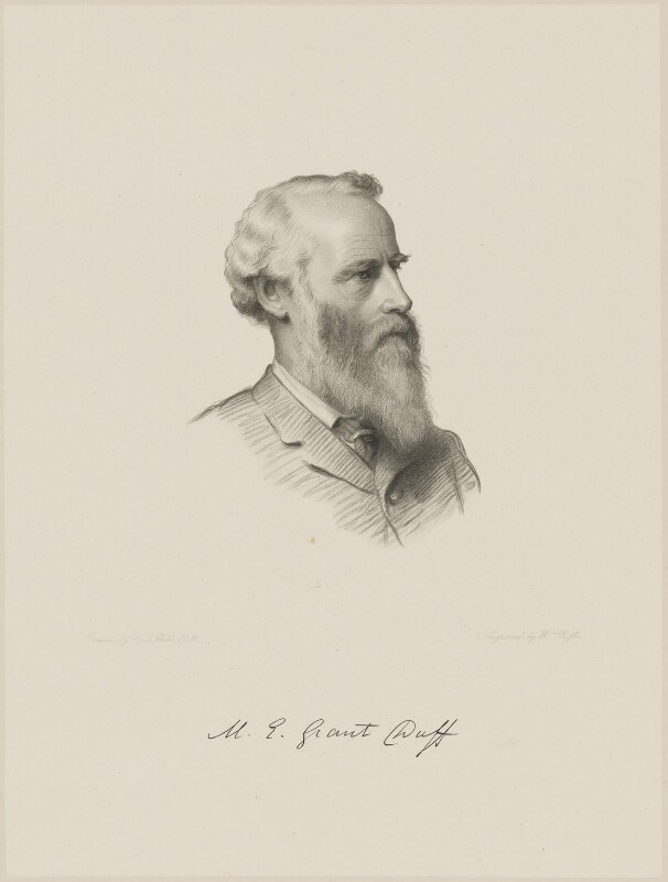 Sir Mountstuart Elphinstone Grant-Duff, by William Roffe, after  Henry Tanworth Wells, 1889 or after - NPG D9724 - © National Portrait Gallery, London