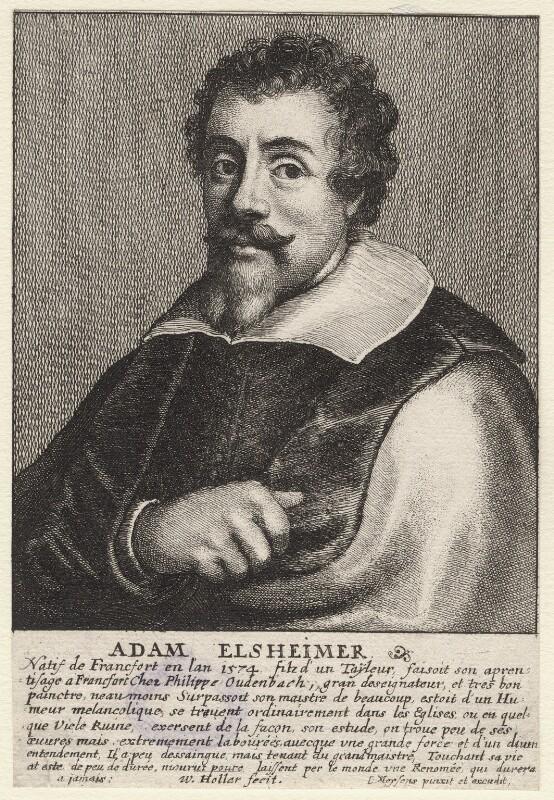 Adam Elsheimer, by Wenceslaus Hollar, after  Johannes Meyssens, 1661 - NPG D9733 - © National Portrait Gallery, London