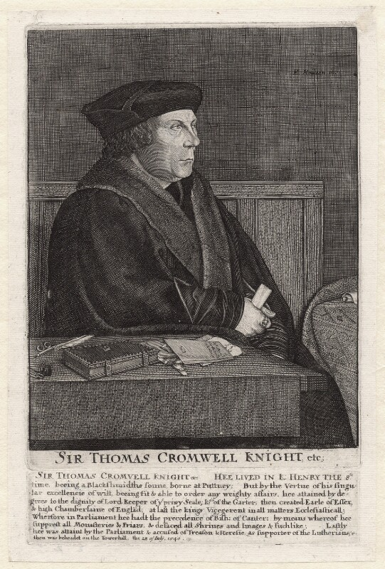 Thomas Cromwell, Earl of Essex, by Unknown artist, by  Wenceslaus Hollar, mid 17th century - NPG D9736 - © National Portrait Gallery, London