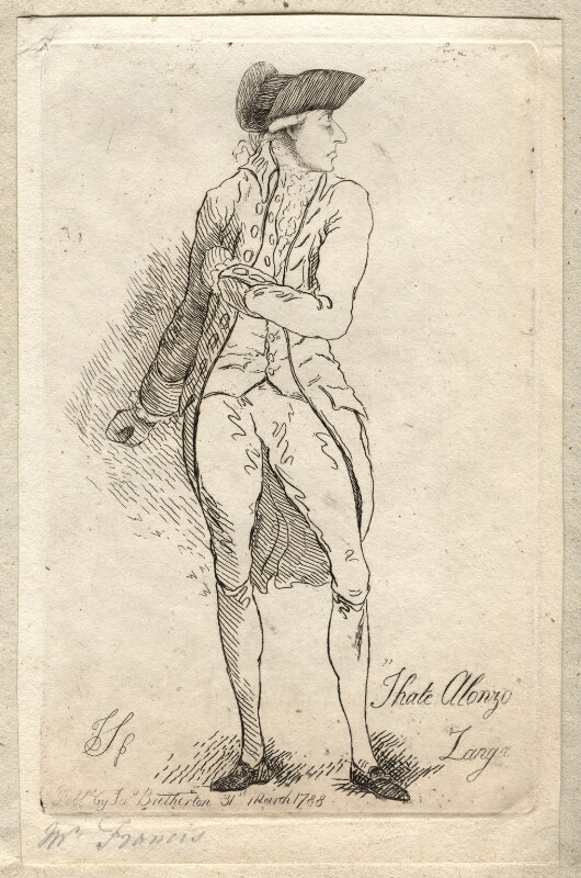 Sir Philip Francis ('I hate Alonzo Zanga'), by James Sayers, published by  James Bretherton, published 31 March 1788 - NPG D9754 - © National Portrait Gallery, London