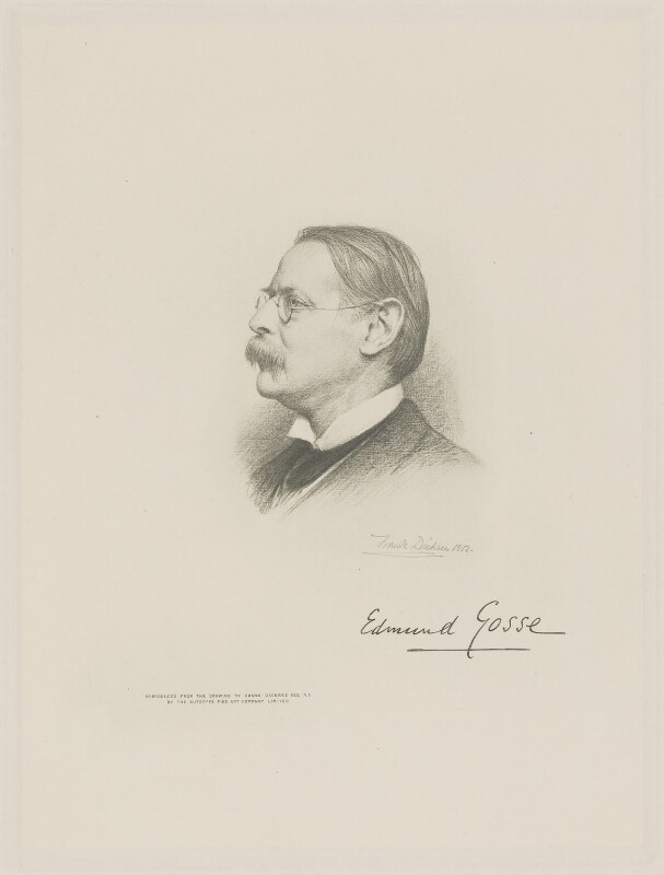 Sir Edmund William Gosse, by The Autotype Company, after  Frank Dicksee, (1912) - NPG D9768 - © National Portrait Gallery, London