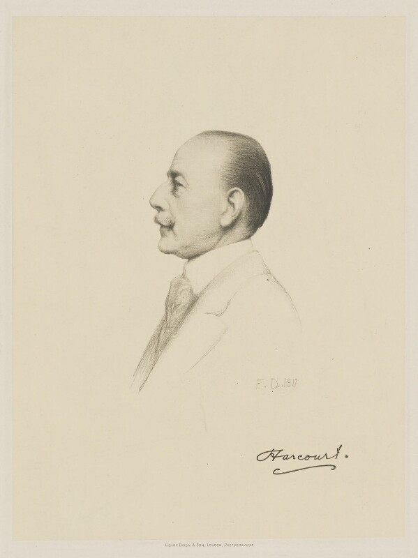 Lewis Harcourt, 1st Viscount Harcourt, by Henry Dixon & Son, after  Frank Dicksee, (1917) - NPG D9787 - © National Portrait Gallery, London