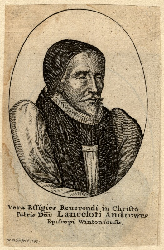 Lancelot Andrewes, by Wenceslaus Hollar, after  Unknown artist, 1643 - NPG D979 - © National Portrait Gallery, London