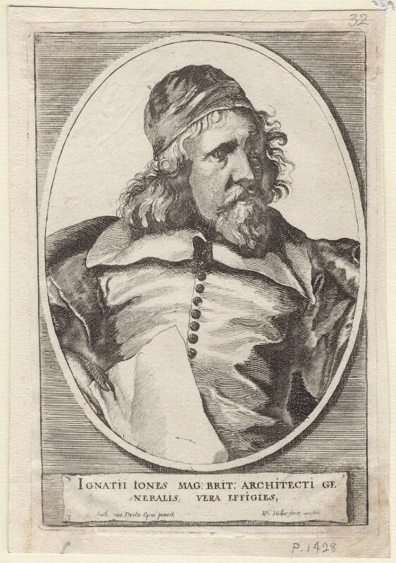 Inigo Jones, by Wenceslaus Hollar, after  Sir Anthony van Dyck, 1655 - NPG D9813 - © National Portrait Gallery, London