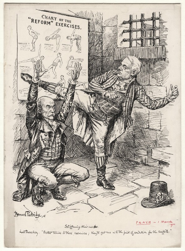 Stiffening Their Necks, by Sir (John) Bernard Partridge, 1911 - NPG D9821 - Reproduced with permission of Punch Ltd