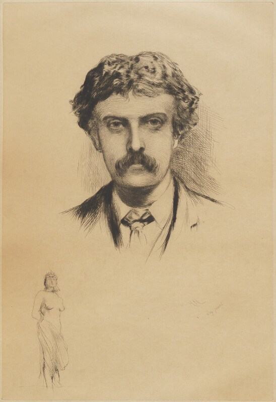 Cecil Gordon Lawson, by Sir Hubert von Herkomer, 1882 or after (1877) - NPG D9829 - © National Portrait Gallery, London