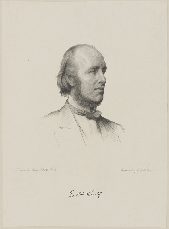 (William) Edward Hartpole Lecky, by George J. Stodart, after  Henry Tanworth Wells, 1887 or after - NPG D9831 - © National Portrait Gallery, London