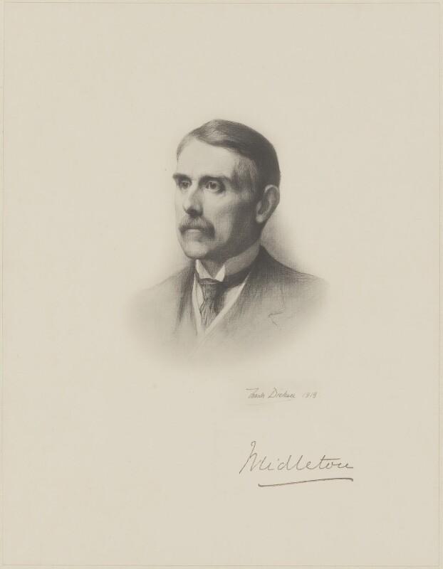 (William) St John Fremantle Brodrick, 1st Earl of Midleton, after Frank Dicksee, (1919) - NPG D9860 - © National Portrait Gallery, London