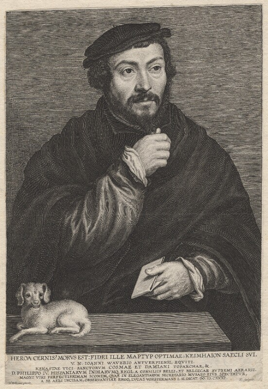 Unknown man called Sir Thomas More, by Lucas Vorsterman, after  (Claude) Corneille de Lyon, 1631 - NPG D9866 - © National Portrait Gallery, London