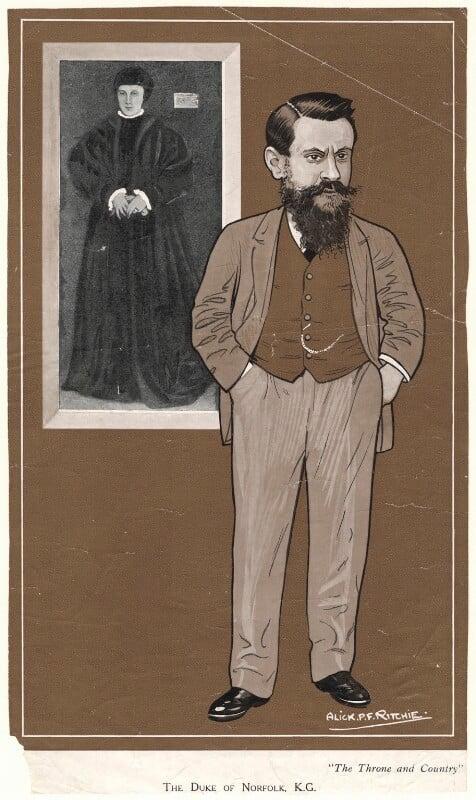 Henry Fitzalan-Howard, 15th Duke of Norfolk, by Alexander ('Alick') Penrose Forbes Ritchie, 1908-1911 - NPG D9878 - © National Portrait Gallery, London