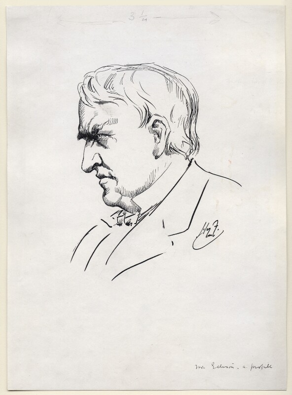 Thomas Alva Edison, by Harry Furniss, 1912-1914 - NPG D99 - © National Portrait Gallery, London