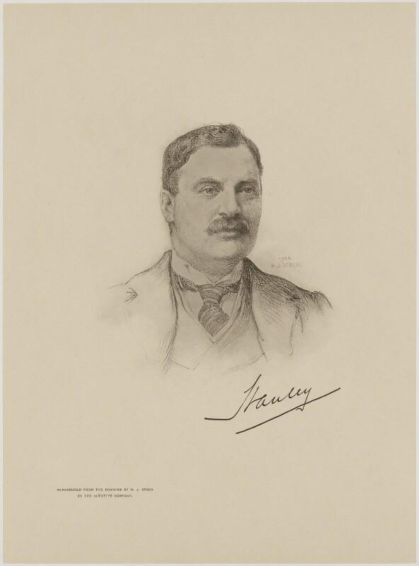 Edward George Villiers Stanley, 17th Earl of Derby, after Henry John Stock, (1906) - NPG D9955 - © National Portrait Gallery, London