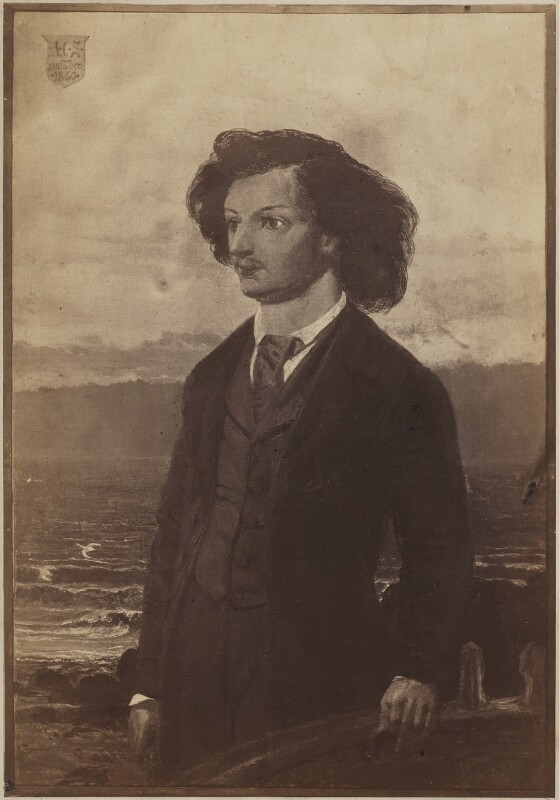 Algernon Charles Swinburne, after William Bell Scott, (circa 1860) - NPG D9960 - © National Portrait Gallery, London