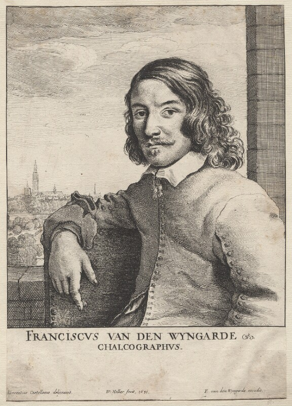 Frans van den Wyngaerde (Wijngaerde), by Wenceslaus Hollar, after  Vincentius Castellanus, 1651 - NPG D9994 - © National Portrait Gallery, London