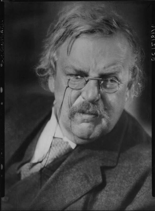 G.K. Chesterton, by Howard Coster, 1926 - NPG x10751 - © National Portrait Gallery, London