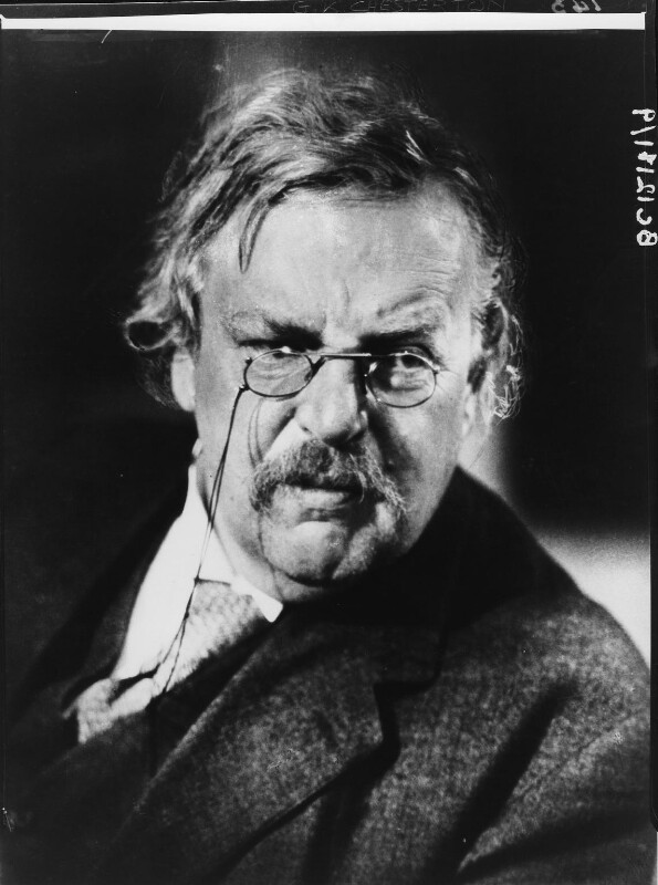 G.K. Chesterton, by Howard Coster, 1926 - NPG x10754 - © National Portrait Gallery, London