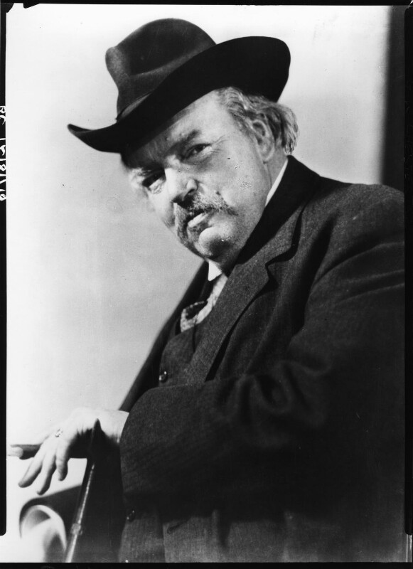 G.K. Chesterton, by Howard Coster, 1926 - NPG x10755 - © National Portrait Gallery, London