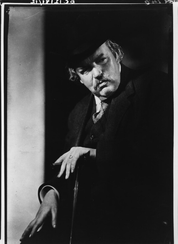 G.K. Chesterton, by Howard Coster, 1926 - NPG x10757 - © National Portrait Gallery, London