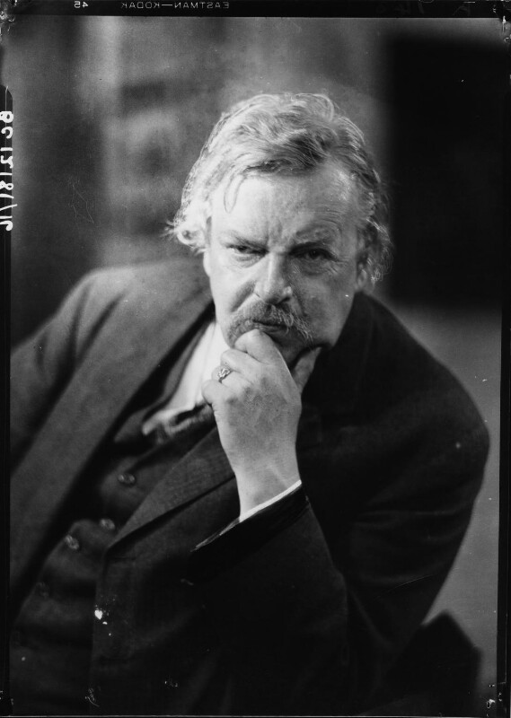 G.K. Chesterton, by Howard Coster, 1926 - NPG x10761 - © National Portrait Gallery, London