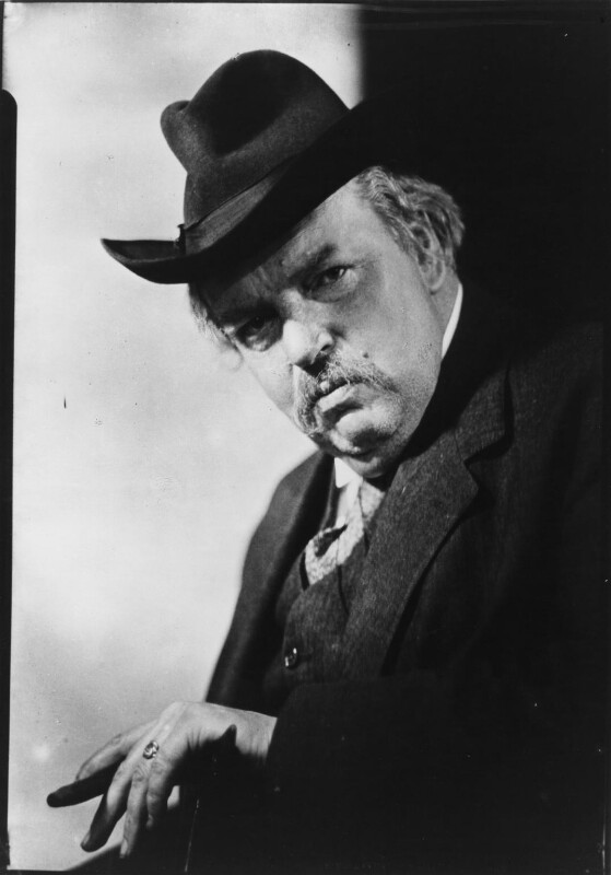 G.K. Chesterton, by Howard Coster, 1926 - NPG x10762 - © National Portrait Gallery, London