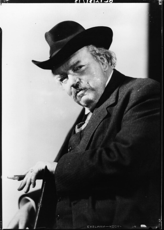 G.K. Chesterton, by Howard Coster, 1926 - NPG x10763 - © National Portrait Gallery, London