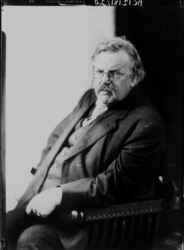 G.K. Chesterton, by Howard Coster, 1926 - NPG x10765 - © National Portrait Gallery, London