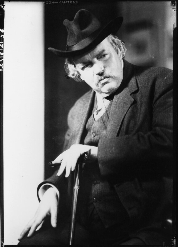G.K. Chesterton, by Howard Coster, 1926 - NPG x10766 - © National Portrait Gallery, London