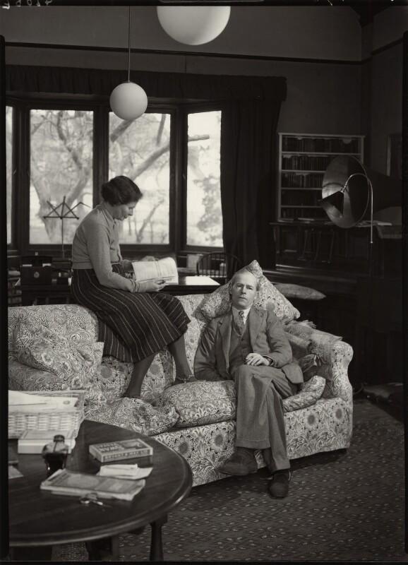 George Douglas Howard Cole; Dame Margaret Isabel Cole, by Howard Coster, 1938 - NPG x10861 - © National Portrait Gallery, London