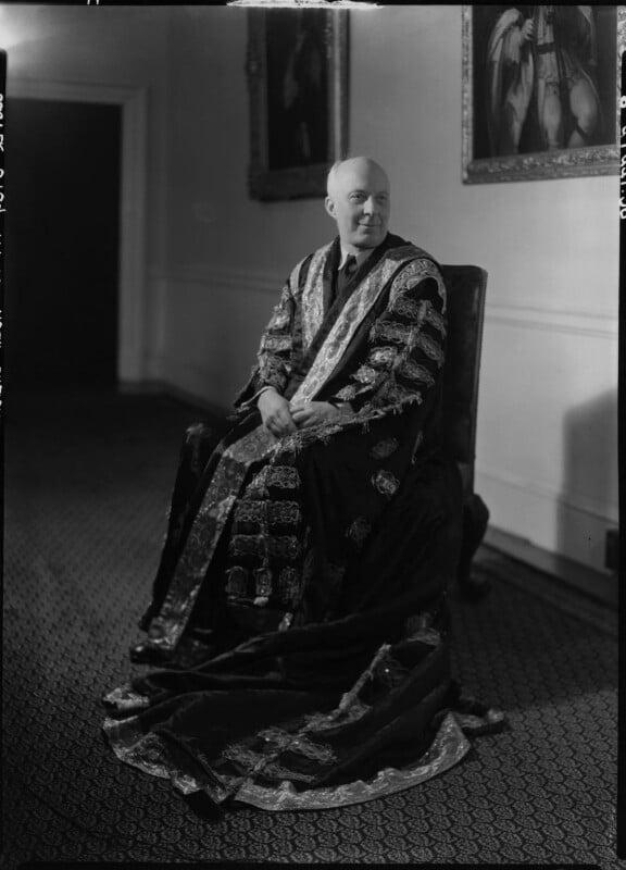 (Edward) Hugh John Neale Dalton, Baron Dalton, by Howard Coster, 1945 - NPG x11195 - © National Portrait Gallery, London