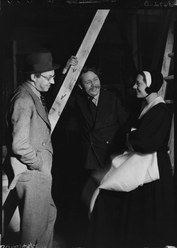 Charles Laughton; Alexander Korda; Gertrude Lawrence, by Howard Coster, 1936 - NPG x12266 - © National Portrait Gallery, London