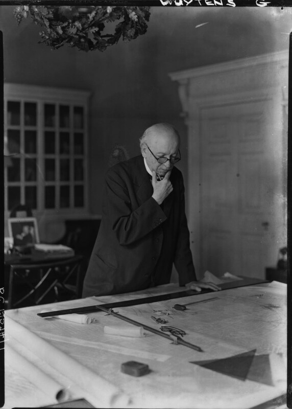 Sir Edwin Lutyens, by Howard Coster, 1942 - NPG x14406 - © National Portrait Gallery, London