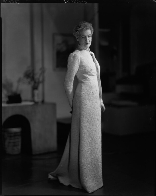 Margaret Emma Alice ('Margot') Asquith (née Tennant), Countess of Oxford and Asquith, by Howard Coster, 1937 - NPG x24266 - © National Portrait Gallery, London