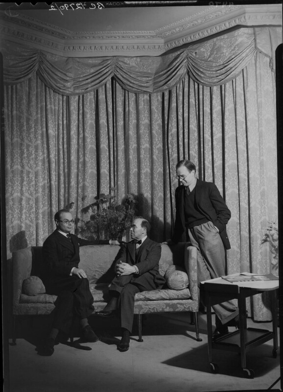 John Rothenstein; William Rothenstein; Michael Rothenstein, by Howard Coster, 1939 - NPG x24375 - © National Portrait Gallery, London