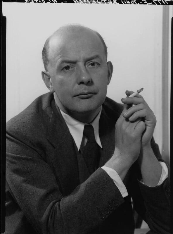 Sir John Betjeman, by Howard Coster, 1953 - NPG x25959 - © National Portrait Gallery, London
