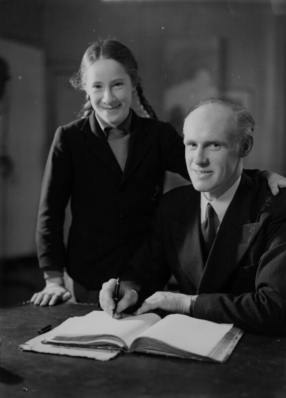 William Christopher Atkinson and his daughter, by Howard Coster, 1945 - NPG x2601 - © National Portrait Gallery, London