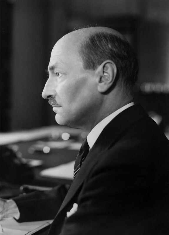 Clement Attlee, by Howard Coster, 1945 - NPG x2606 - © National Portrait Gallery, London