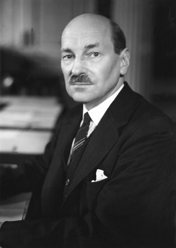 Clement Attlee, by Howard Coster, 1945 - NPG x2609 - © National Portrait Gallery, London