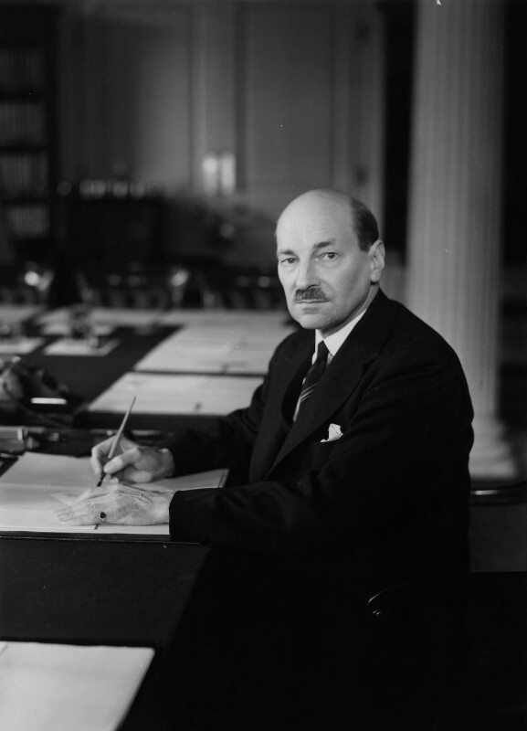 Clement Attlee, by Howard Coster, 1945 - NPG x2610 - © National Portrait Gallery, London