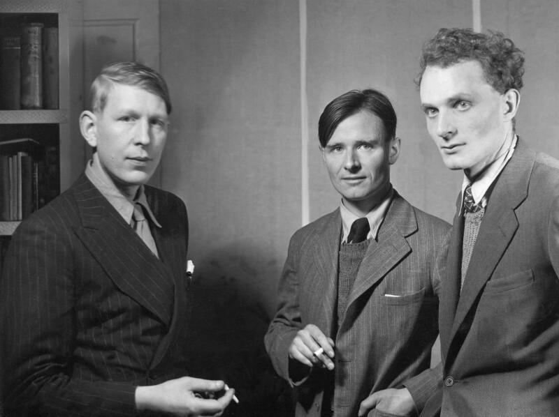 W.H. Auden; Christopher Isherwood; Stephen Spender, by Howard Coster, 1937 - NPG x2951 - © National Portrait Gallery, London