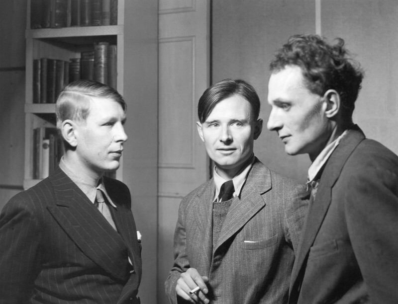 W.H. Auden; Christopher Isherwood; Stephen Spender, by Howard Coster, 1937 - NPG x2952 - © National Portrait Gallery, London