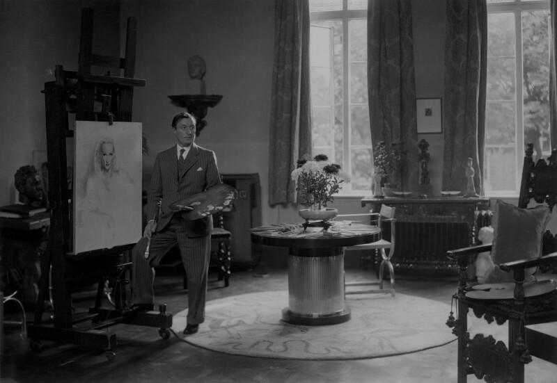 Gerald Leslie Brockhurst, by Howard Coster, 1937 - NPG x3154 - © National Portrait Gallery, London