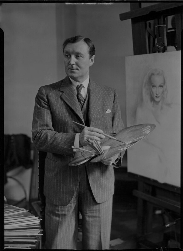 Gerald Leslie Brockhurst, by Howard Coster, 1937 - NPG x3167 - © National Portrait Gallery, London