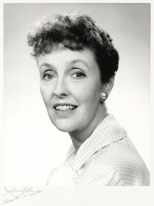 Joyce Grenfell, by Anthony Buckley, 1962 - NPG x76240 - © estate of Kenneth Hughes / National Portrait Gallery, London