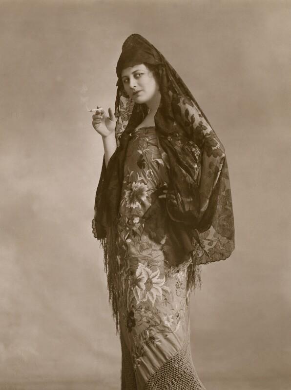 Malvina Longfellow as a Spanish Beauty, by Bassano Ltd, February 1918 - NPG x83154 - © National Portrait Gallery, London